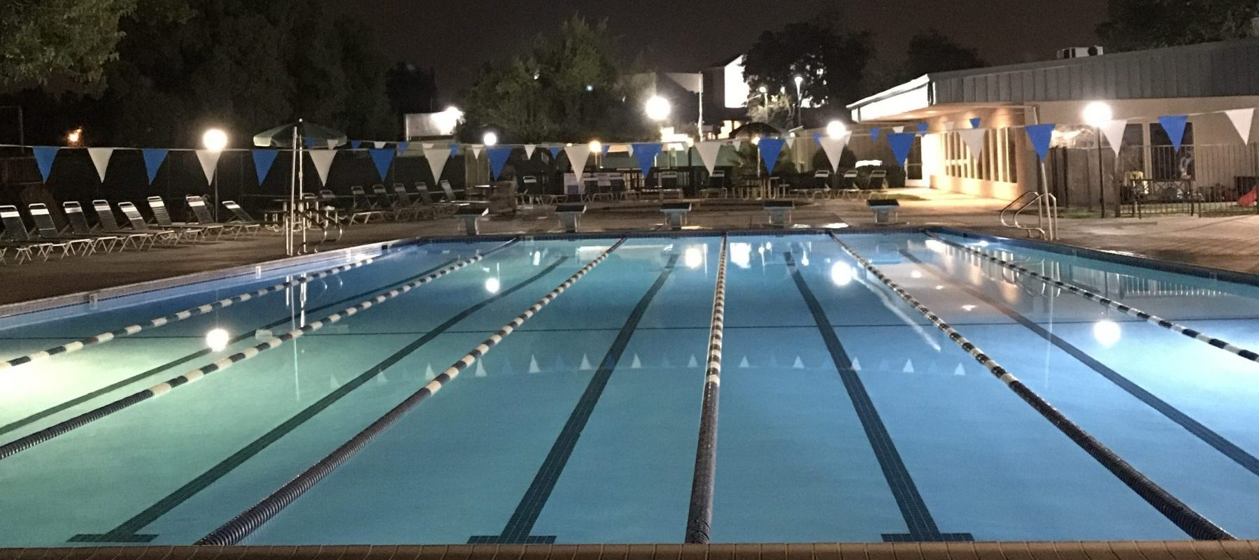 Del Norte pool at night